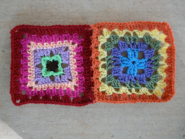 crochet granny squares join as you go
