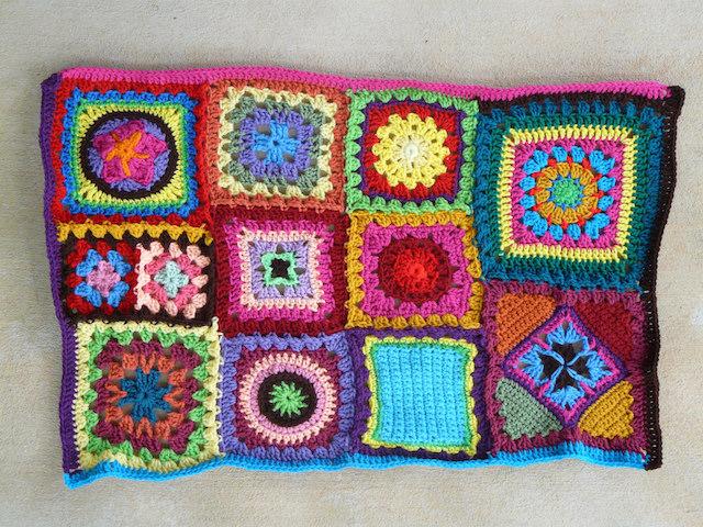 brown crochet strip