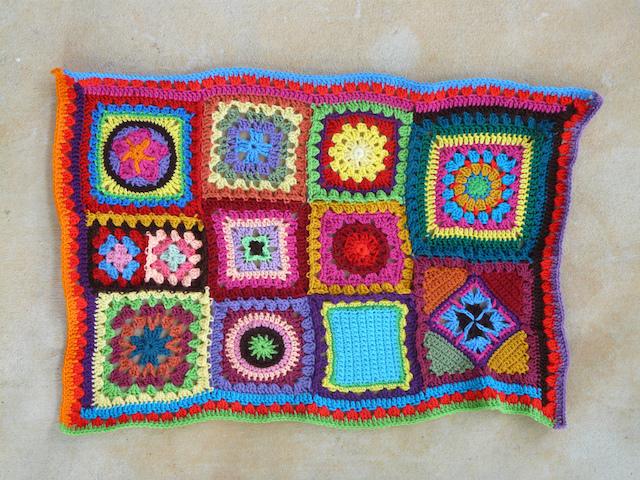 medium purple double crochet strip