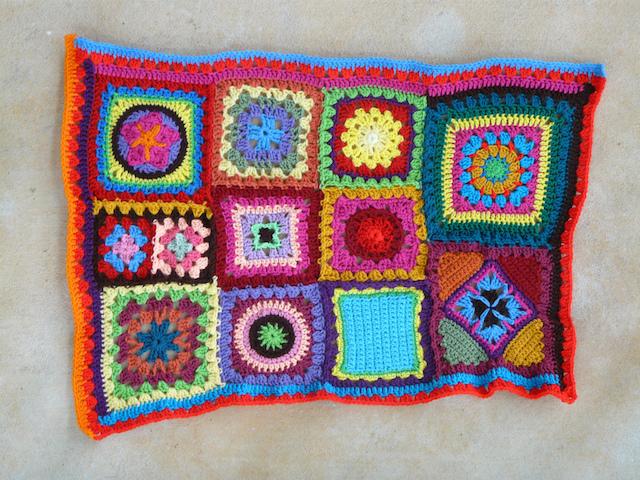 double crochet row of orange