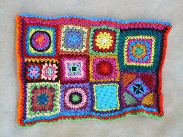 spring green double crochet strip