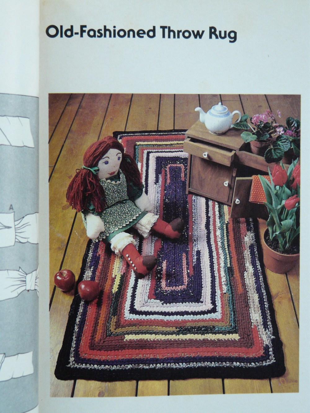 rag rug crochet project
