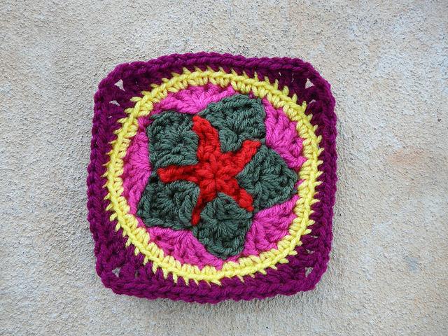 crochet star crochet circle
