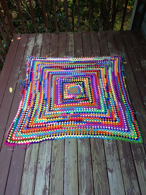crochetbug, crochet square, crochet granny square, granny square, scrap yarn granny square, scrap yarn crochet, use what you have