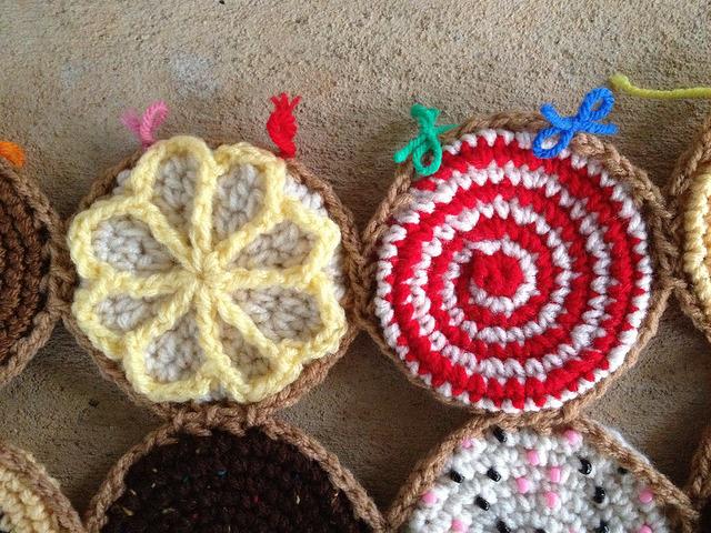 lemonade crochet cookie