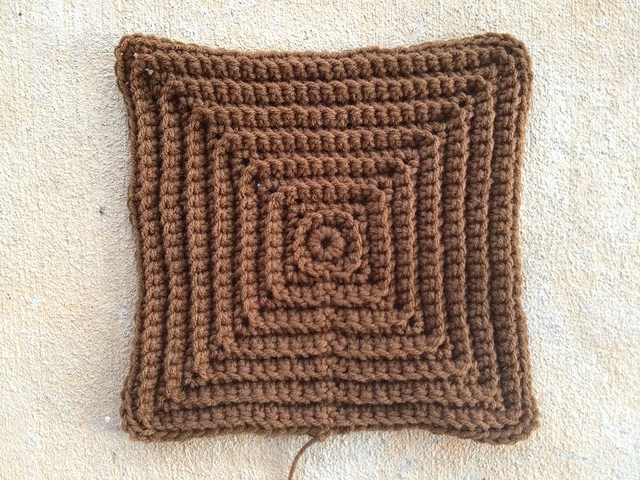 large textured crochet square