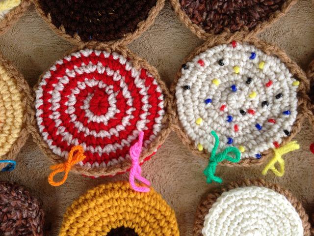 yarn scrap stitch markers