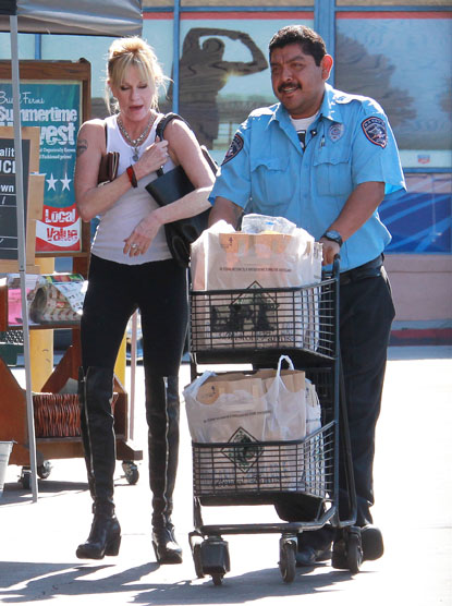 Melanie Griffith leaving the grocery store