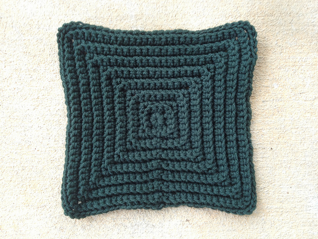 large texture crochet square for a crochet afghan