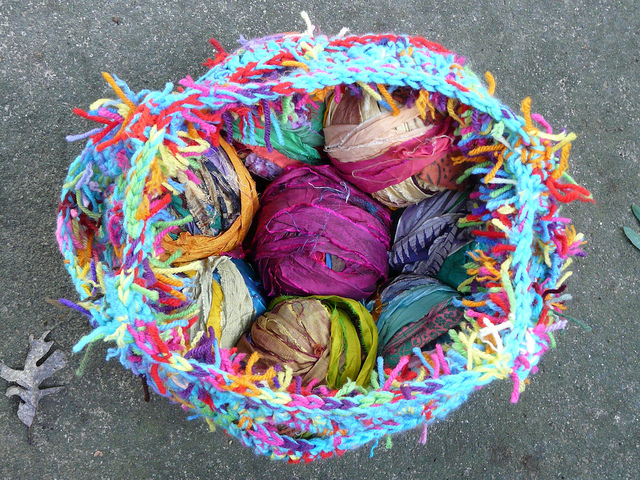 electric crochet stash basket