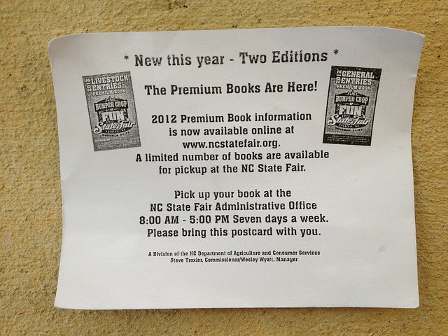 2012 premium book post card