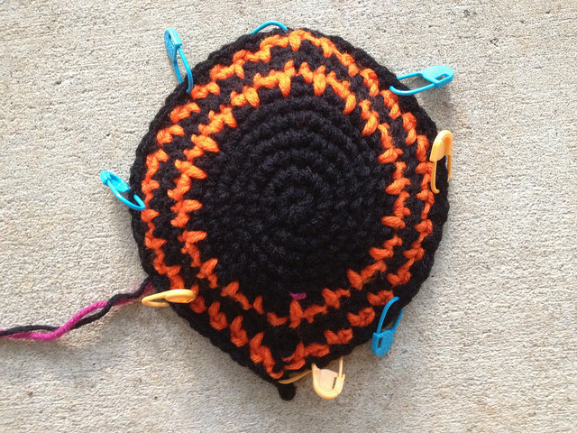 A mission in crochet: a spiky beanie