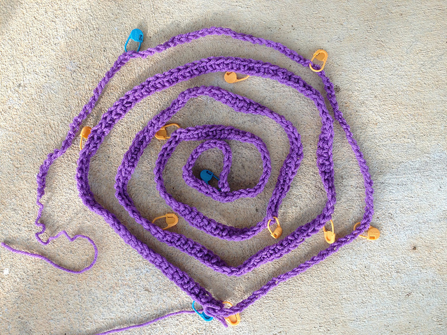 textured crochet border