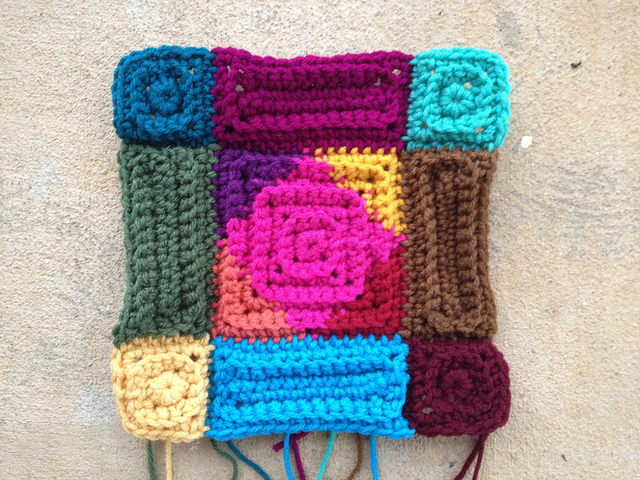 textured crochet border for a textured crochet blanket, crochetbug, textured crochet squares, textured crochet rectangles