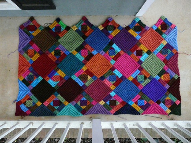 crochetbug, textured crochet squares, textured crochet rectangles, textured crochet triangles, textured crochet blanket, textured crochet afghan