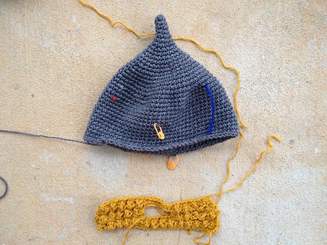 The future Assyrian crochet helmet and crochet beard