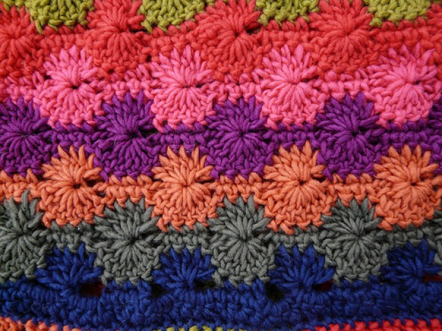 crochetbug, crochet ascot, catherine wheel crochet stitch, textured crochet stitch