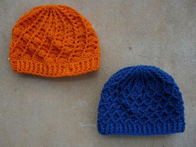 Crochet hats for my cousins Robert and David
