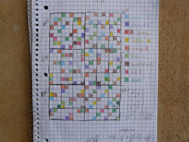 the plotting of a future sudoku crochet blanket