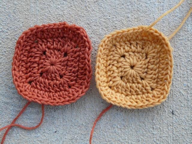 crochetbug, croche squares, crochet flowers, crochet in the round, crochet ascot