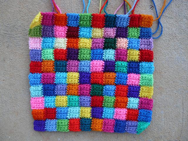 small crochet squares crochet bag