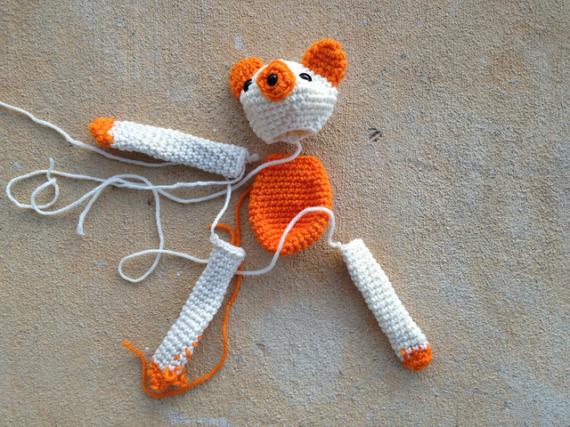 more crochet bear pieces