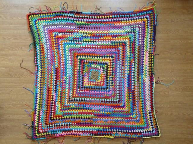 crochetbug, scrap yarn crochet, scrap yarn granny square, use what you have