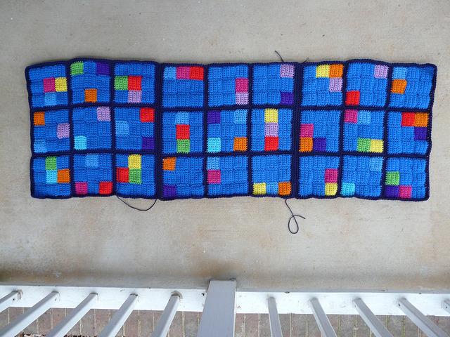 crochet sudoku panel