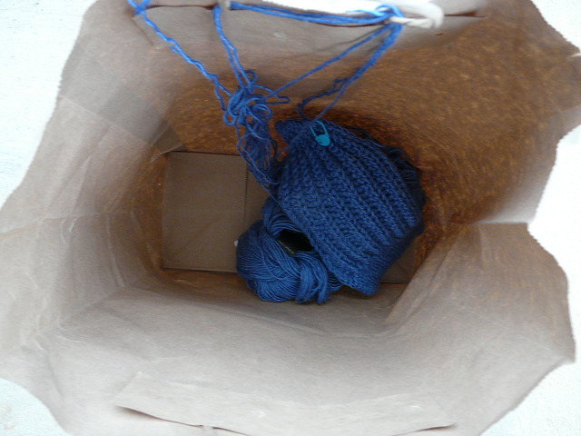 crochet hat waiting to tangle