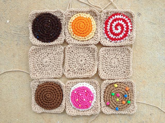sudoku crochet squares