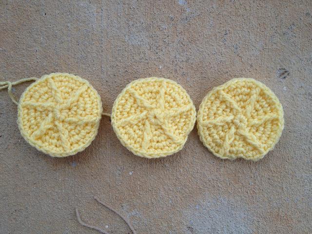lemon shortbread crochet cookies for a crochet sudoku