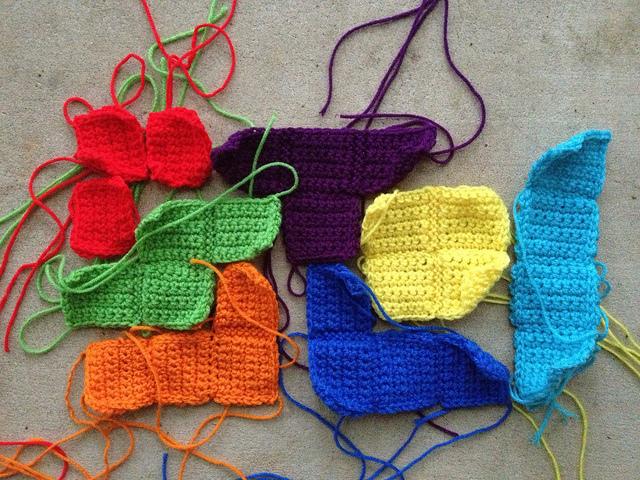 crochet tetrominoes
