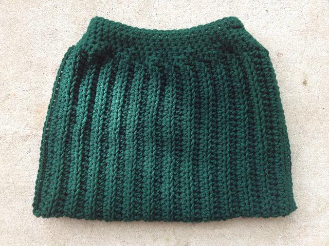 crochet purse inside out