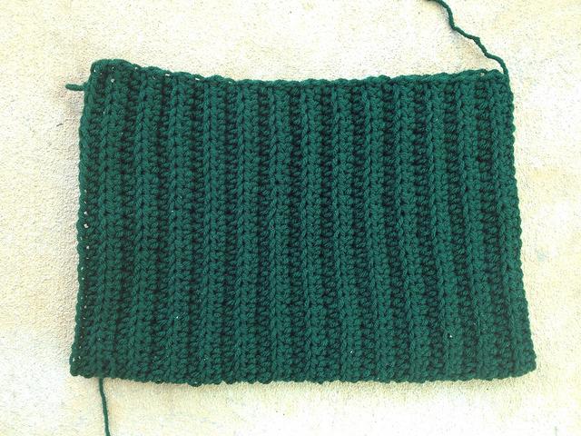 ribbed stitch crochet purse