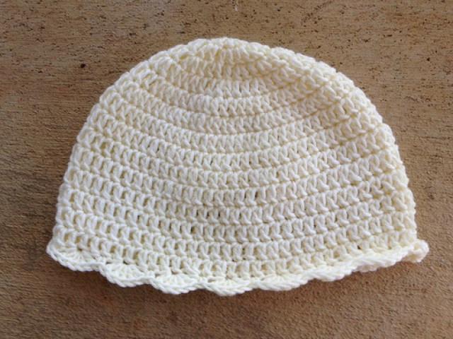 crochet chemo sleep cap