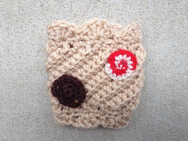 crochet cookie coffee cozy