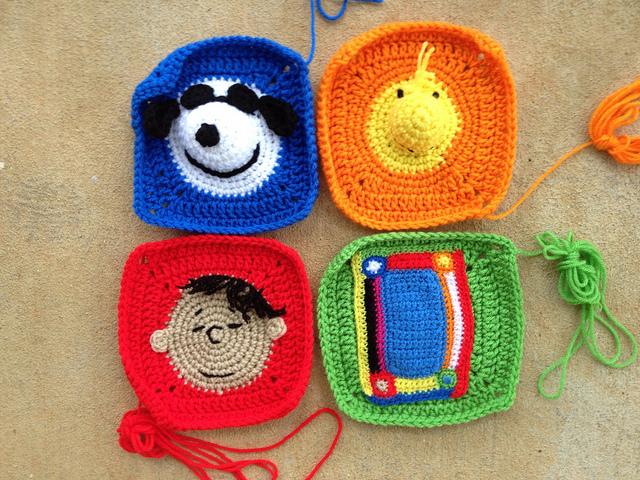 four crochet corners for a project linus crochet blanket