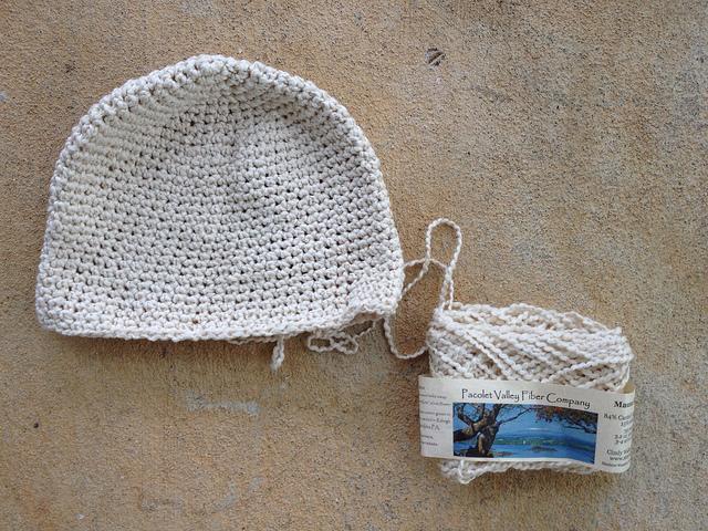 cotton crochet chemo cap