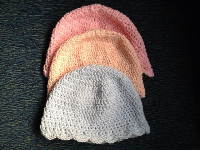 crochet chemo sleep caps
