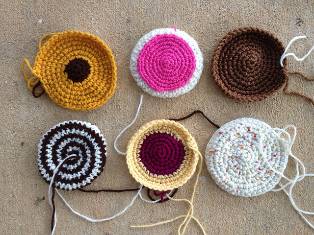 large crochet cookies