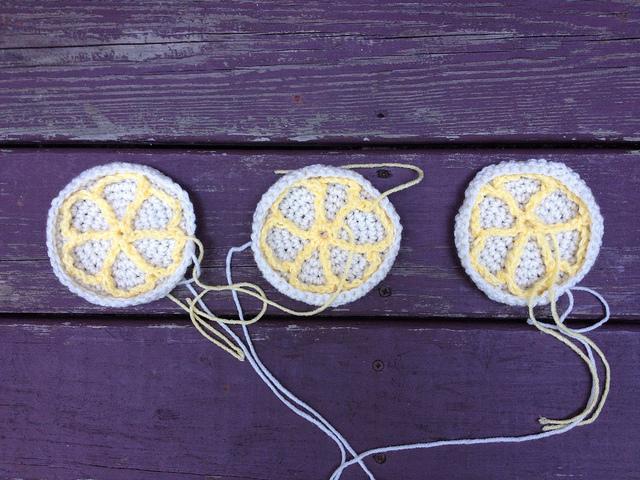 Lemonades crochet cookies