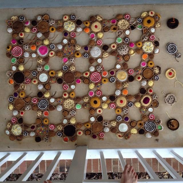 five more crochet cookie motifs for a crochet blanket