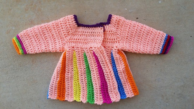 nearly completed girl's crochet sweater