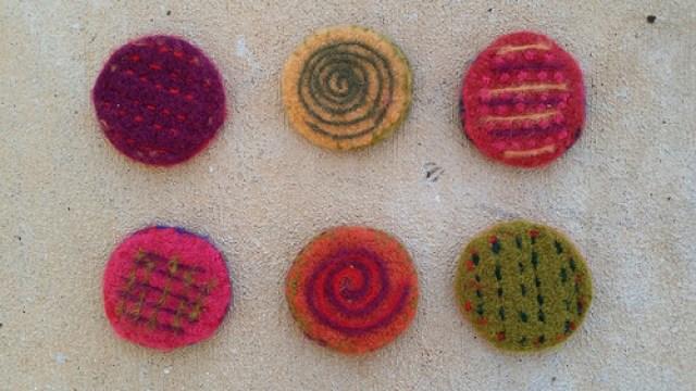 felted crochet circles