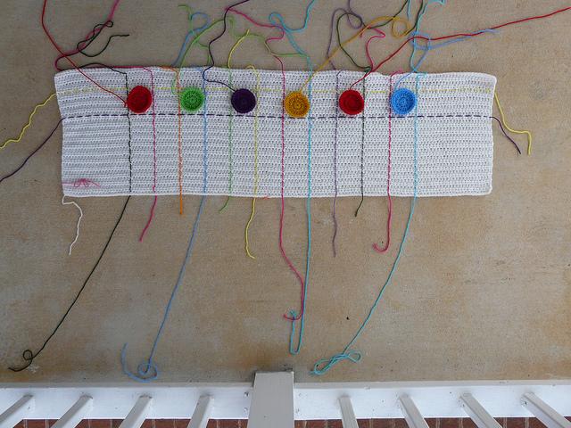 decorative crochet dots