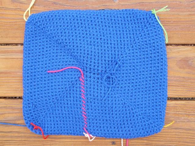 rectangle crochet basket