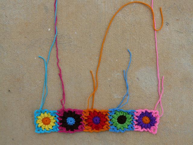 crochet flowers crochet bag