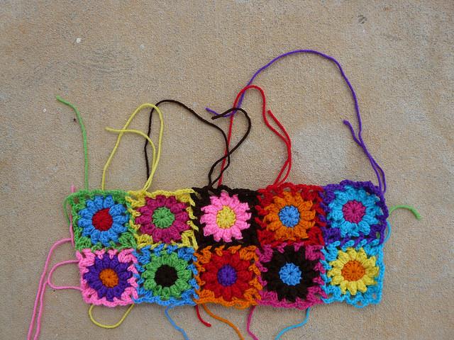 crochet flowers crochet bag crochet purse