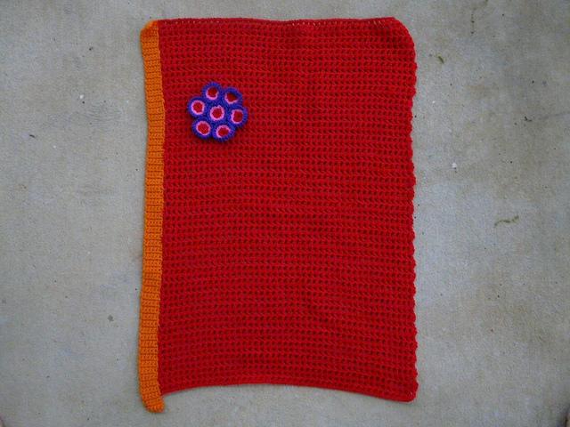 future crochet flowered wall hanging