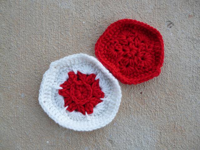 crochet hexagon crochet pentagon Flag of Japan